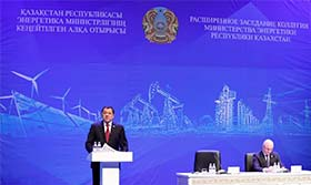 At an expanded meeting of the Board of the Ministry of Energy of the Republic of Kazakhstan, Nurlan NOGAYEV expressed his gratitude to the KAZENERGY Association for fruitful cooperation with the Ministry of Energy of the Republic of Kazakhstan and other s